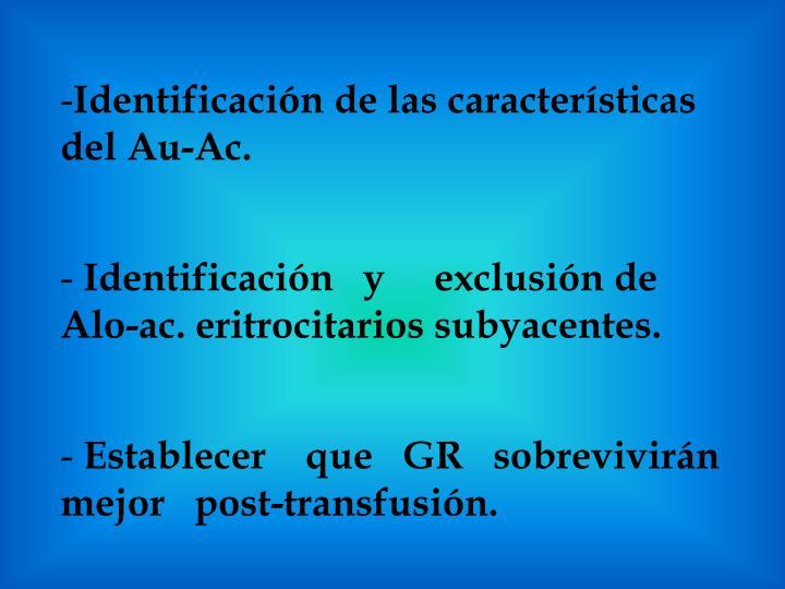 Identificación de las características del Au-Ac.