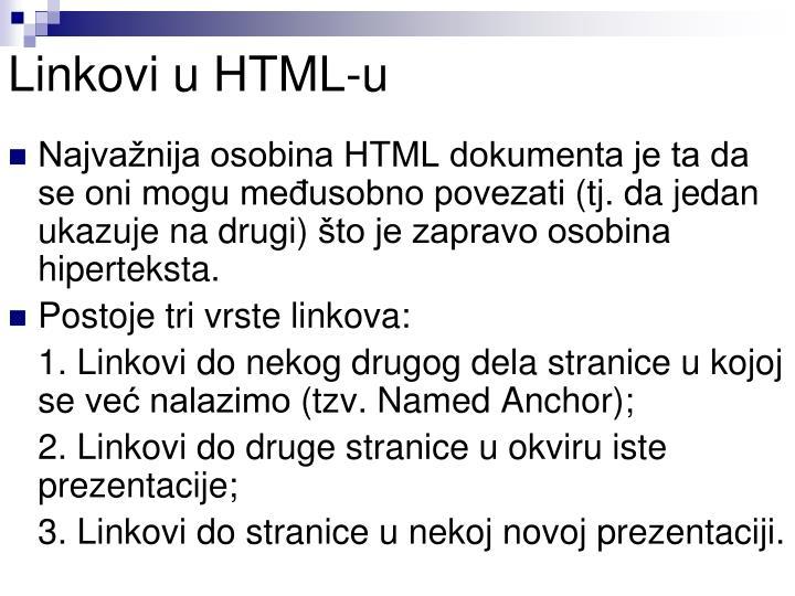 Linkovi u HTML-u