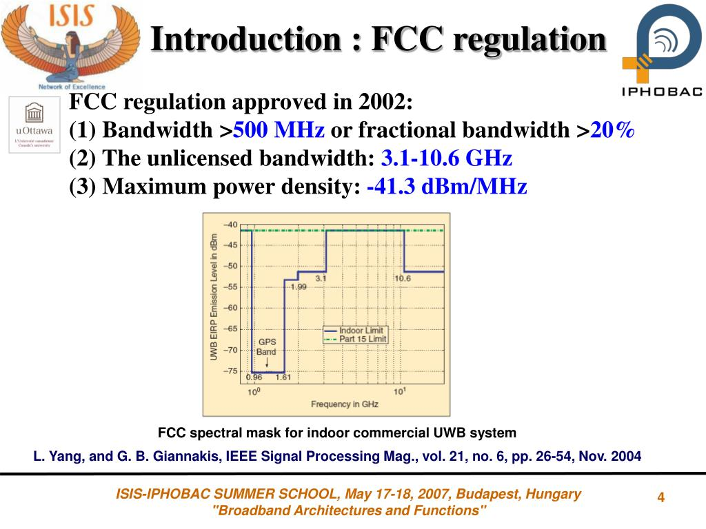 PPT - Generation and processing of UWB Signals over fiber PowerPoint