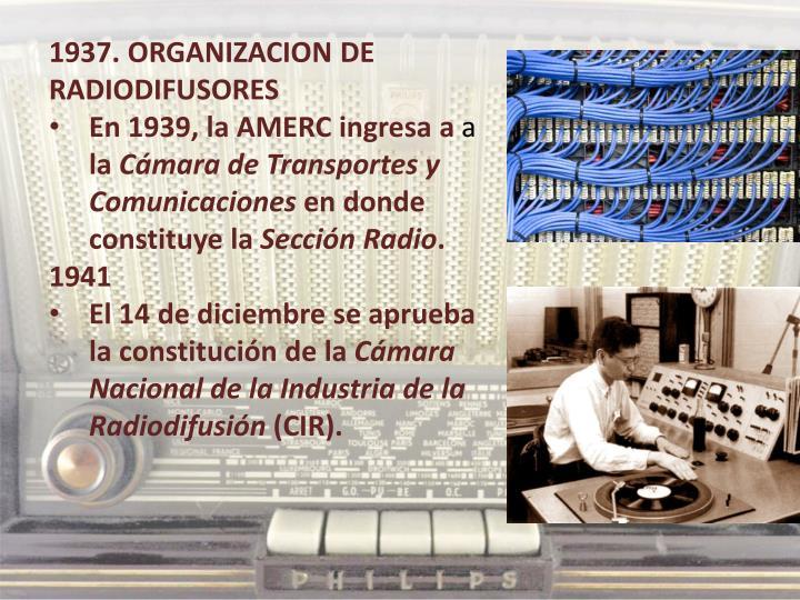 1937. ORGANIZACION DE RADIODIFUSORES