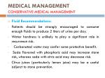 medical management conservative medical management