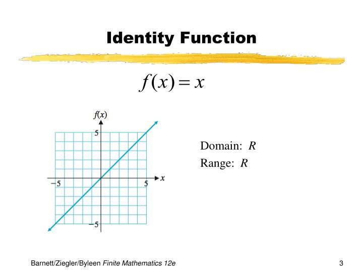 Identity function