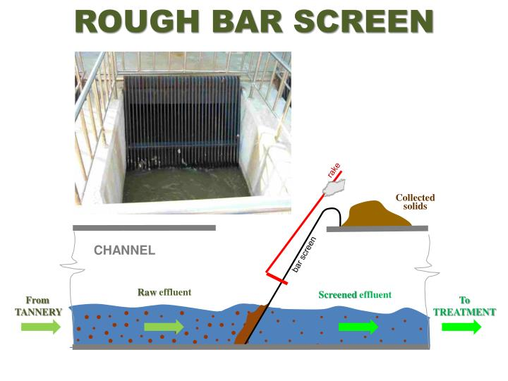 Rough bar screen