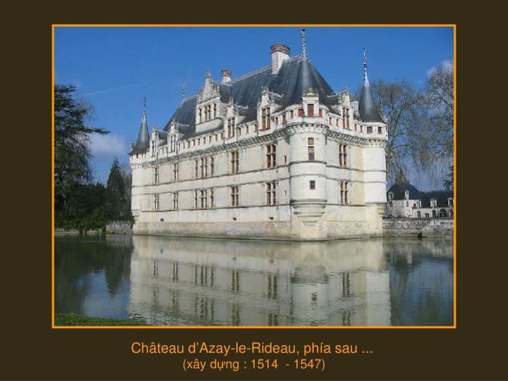 Château d'Azay-le-Rideau,