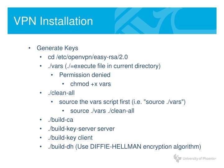 VPN Installation