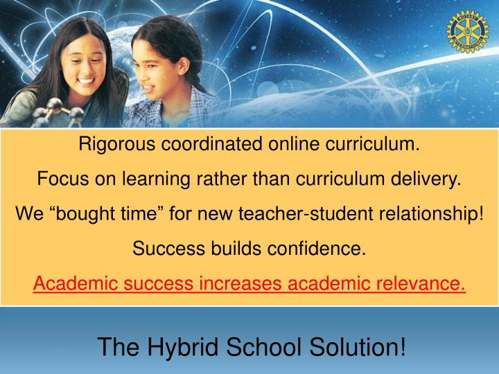 The Hybrid School Solution!