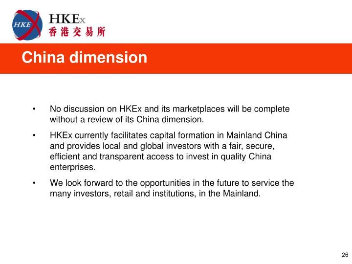 China dimension