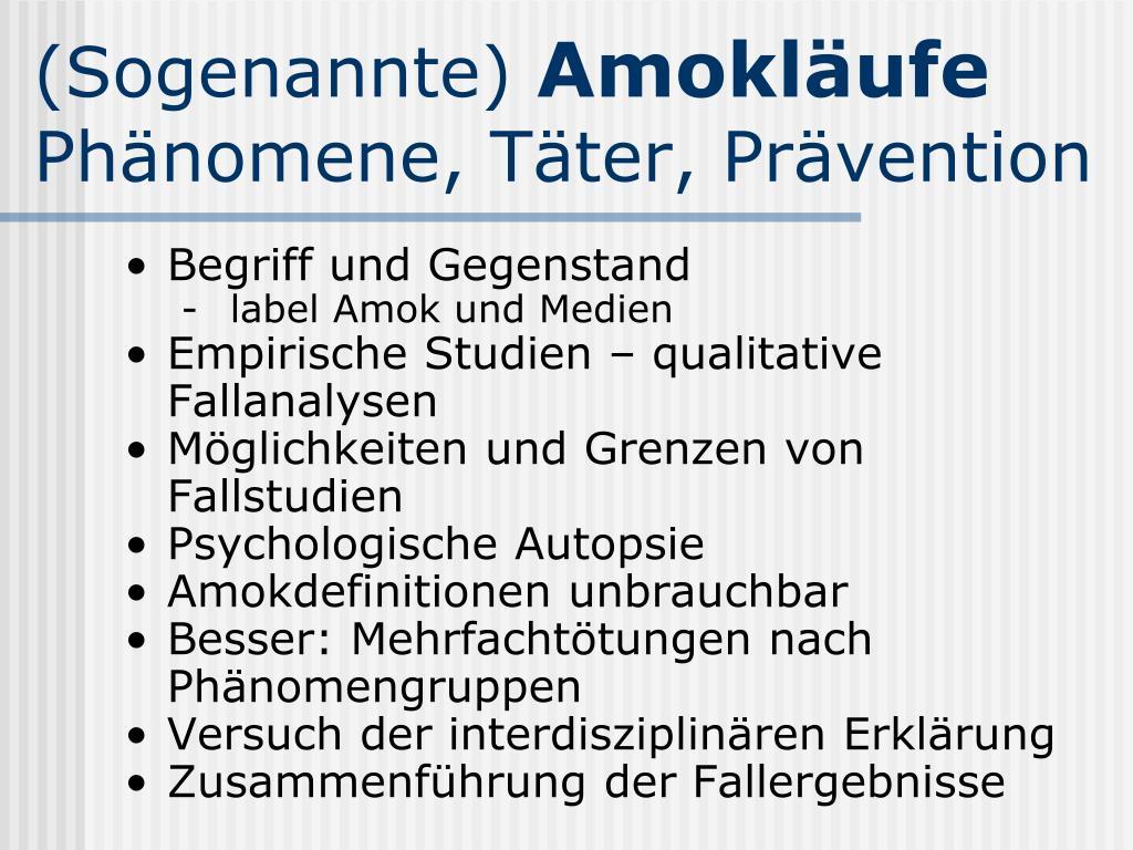PPT   Amok an Schulen Drohungen  Taten  Hintergründe PowerPoint ...