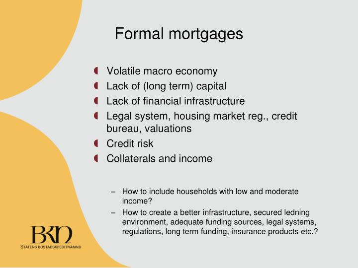 Formal mortgages