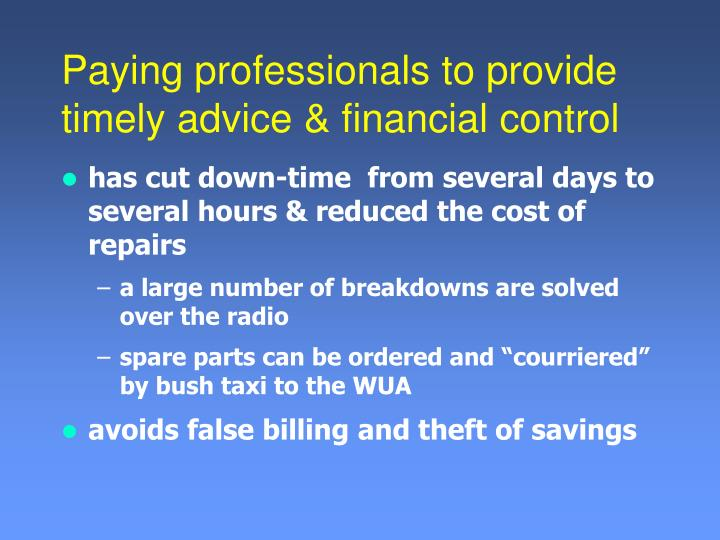 has cut down-time  from several days to several hours & reduced the cost of repairs