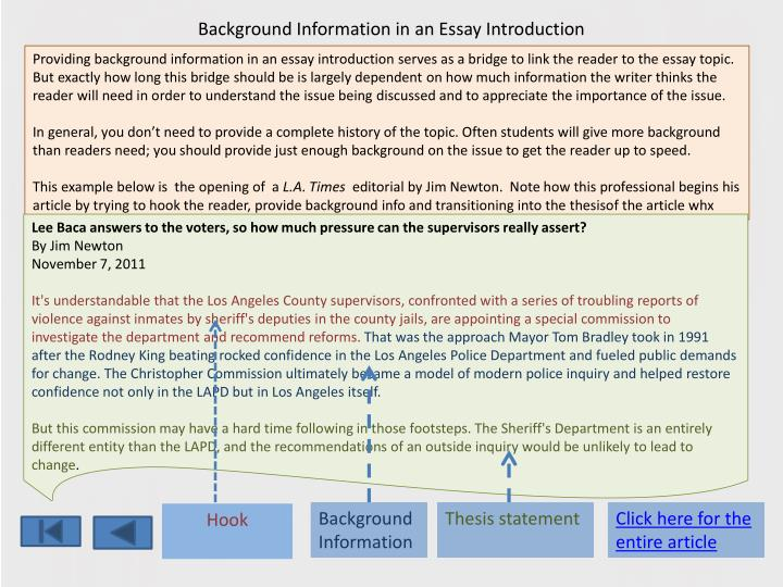 Iago Essay Background Information In An Essay Introduction George Bernard Shaw Essays also How To Write An Argument Essay Ppt  The Anatomy Of An Essay Powerpoint Presentation  Id Who Am I Essays Examples