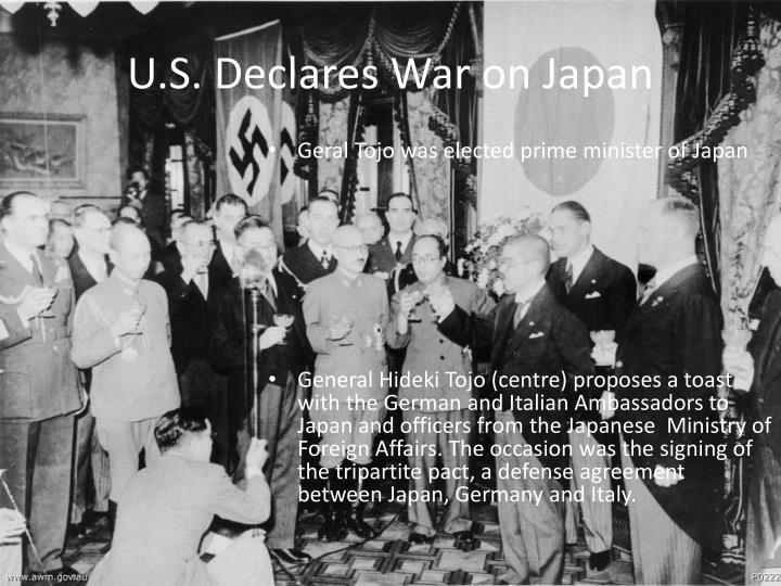 U.S. Declares War on Japan