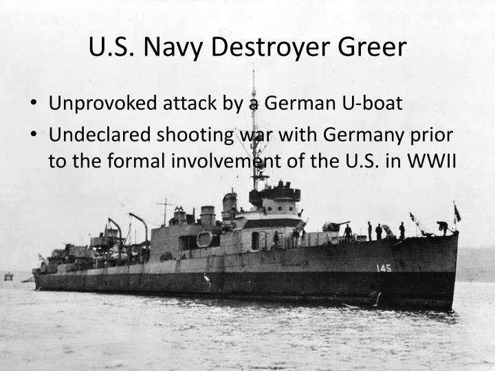 U.S. Navy Destroyer Greer