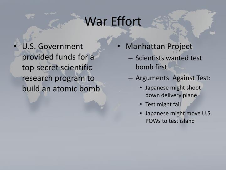 War Effort