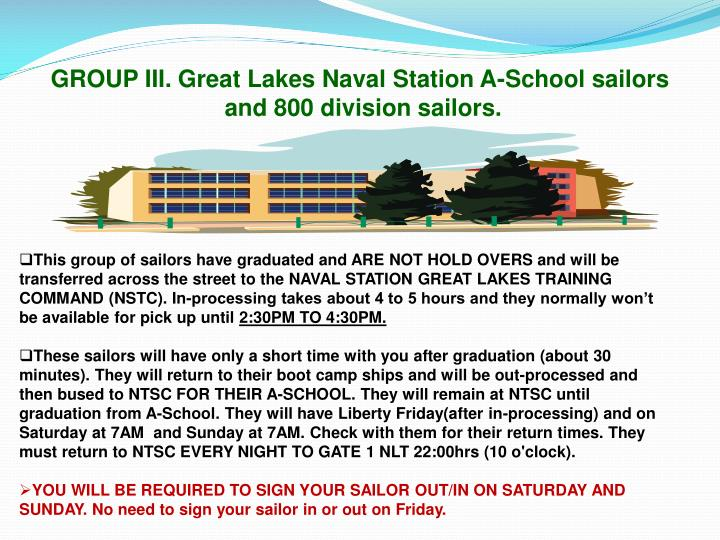 GROUP III. Great Lakes Naval Station A-School sailors