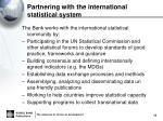 partnering with the international statistical system