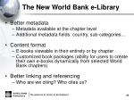 the new world bank e library2