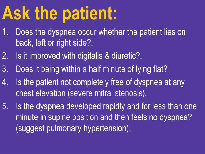 Ask the patient: