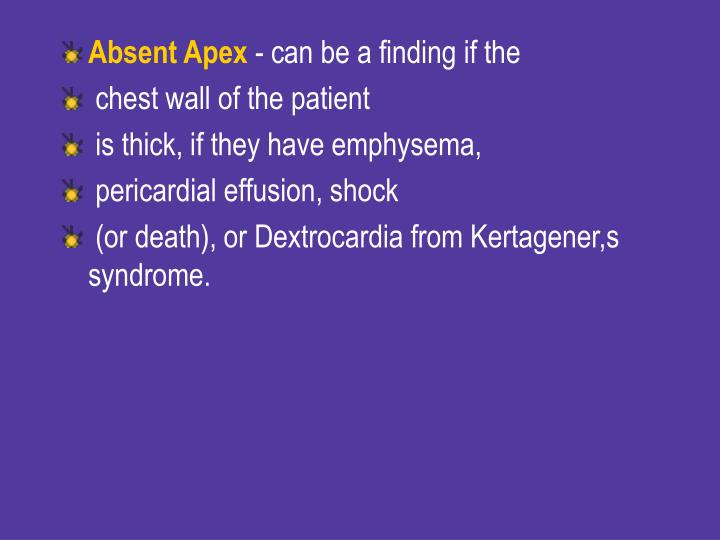 Absent Apex