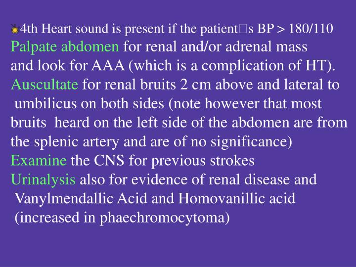 4th Heart sound is present if the patient