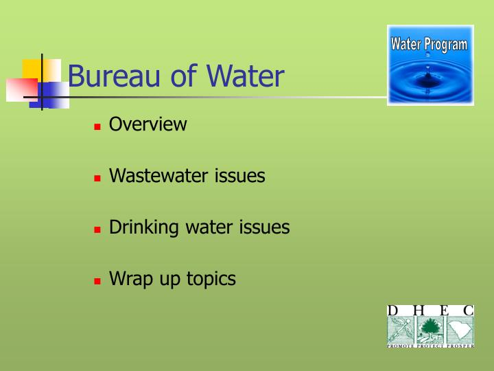 bureau of water n.