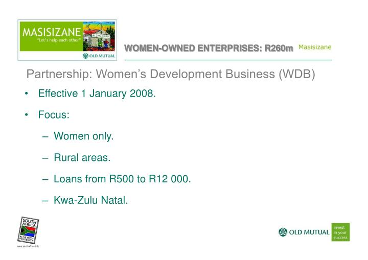 Partnership: Women's Development Business (WDB)