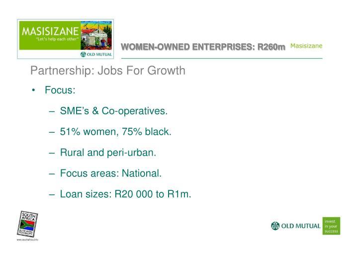 WOMEN-OWNED ENTERPRISES: R260m