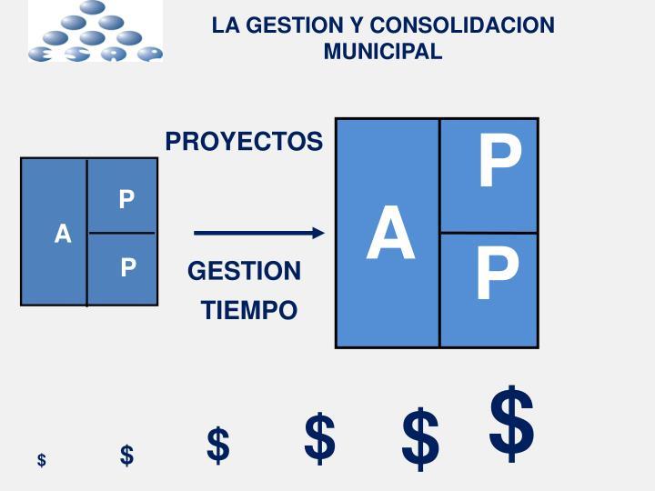 LA GESTION Y CONSOLIDACION MUNICIPAL