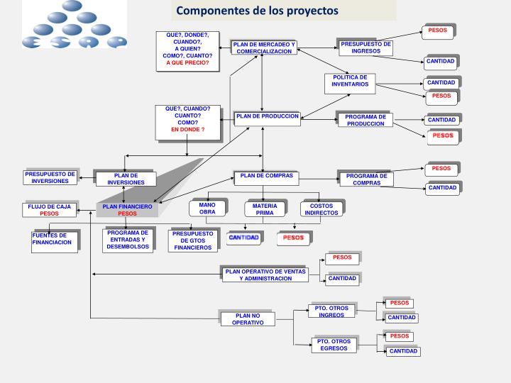 Componentes de los proyectos