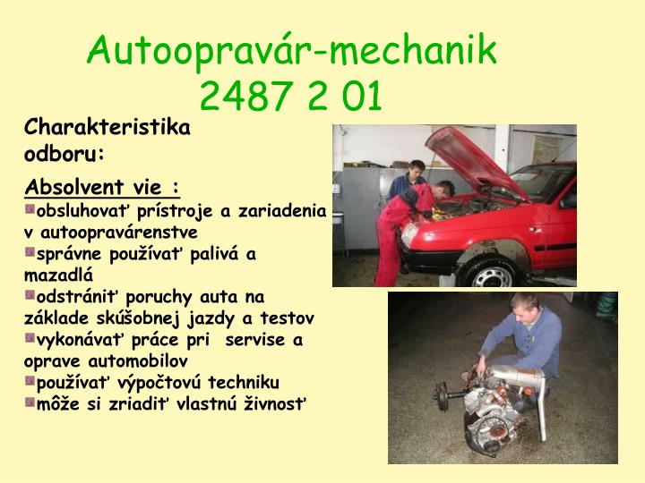Autoopravár-mechanik