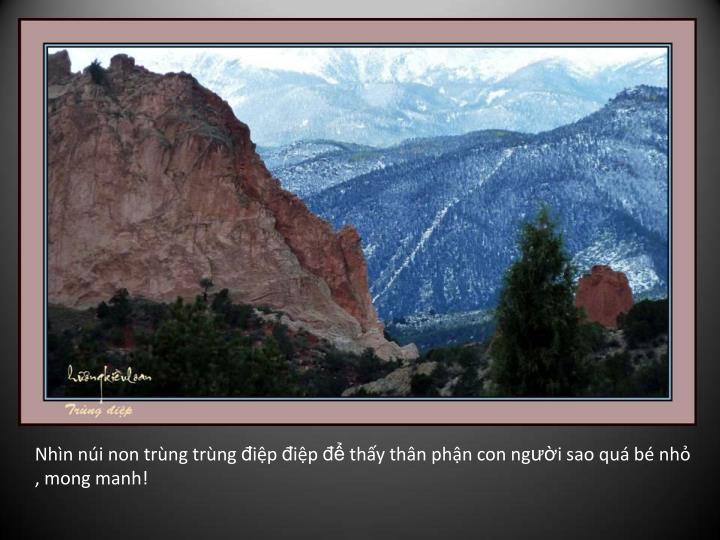 Nhìn núi non trùng trùng