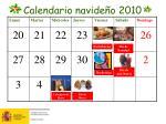 calendario navide o 20101