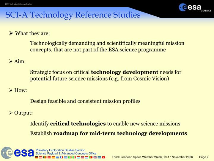 Sci a technology reference studies