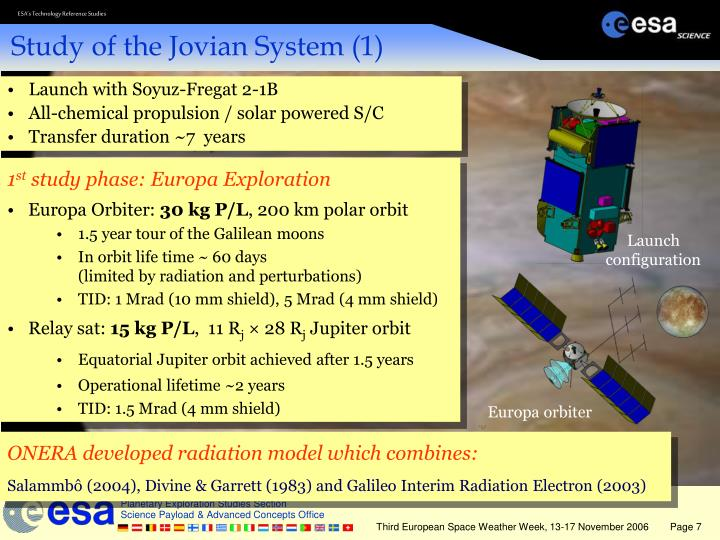 Study of the Jovian System (1)