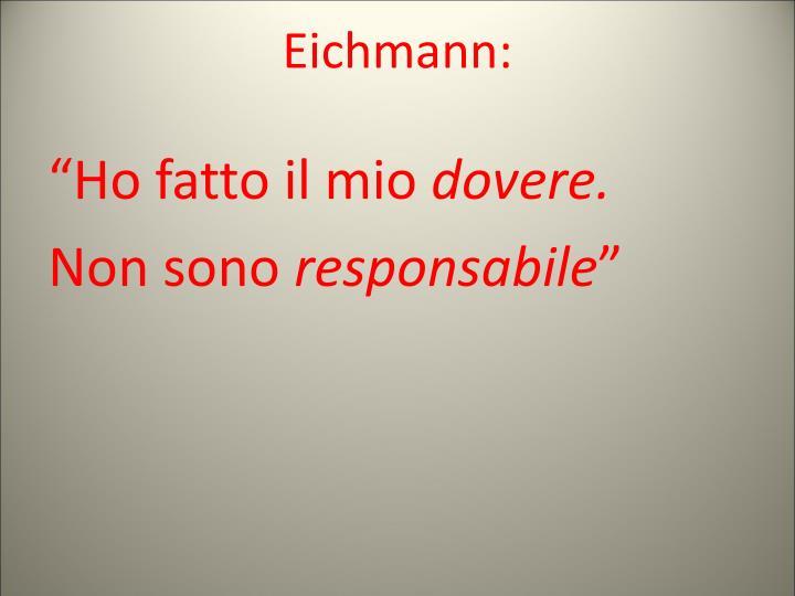 Eichmann: