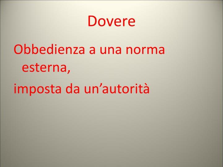 Dovere