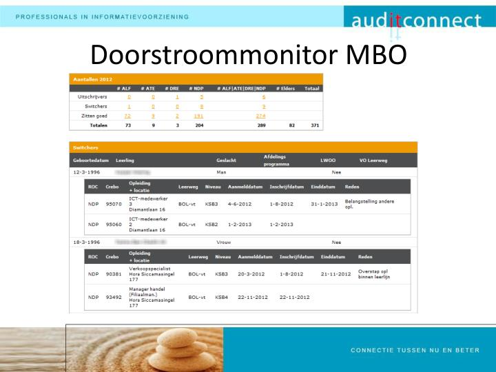 Doorstroommonitor MBO