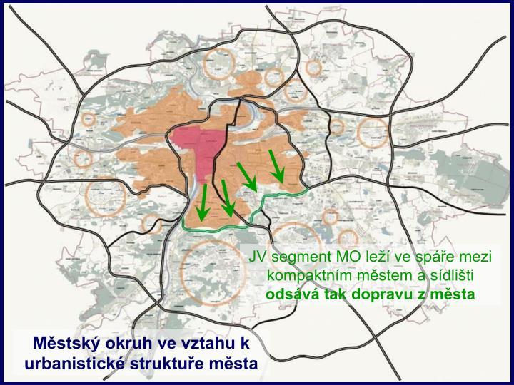 JV segment MO leží ve spáře mezi kompaktním městem a sídlišti