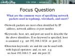 focus question1
