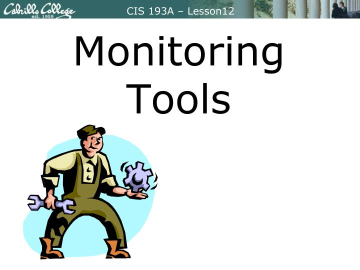 monitoring tools n.