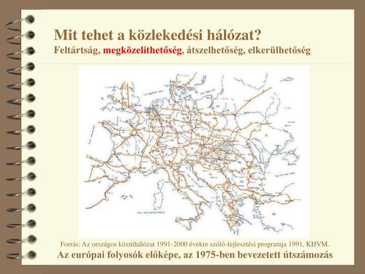 Mit tehet a közlekedési hálózat?