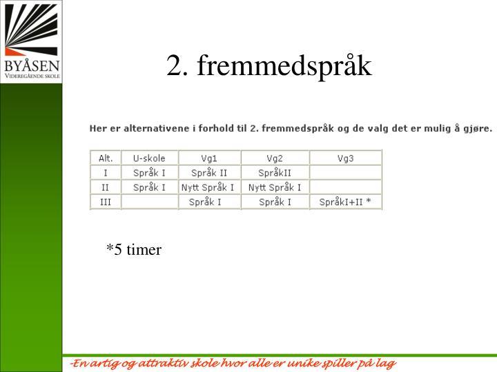 2. fremmedspråk