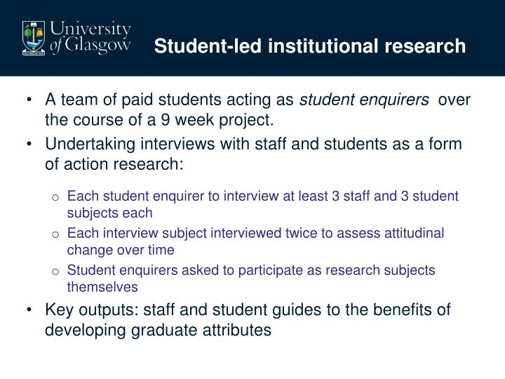 Student-led institutional research
