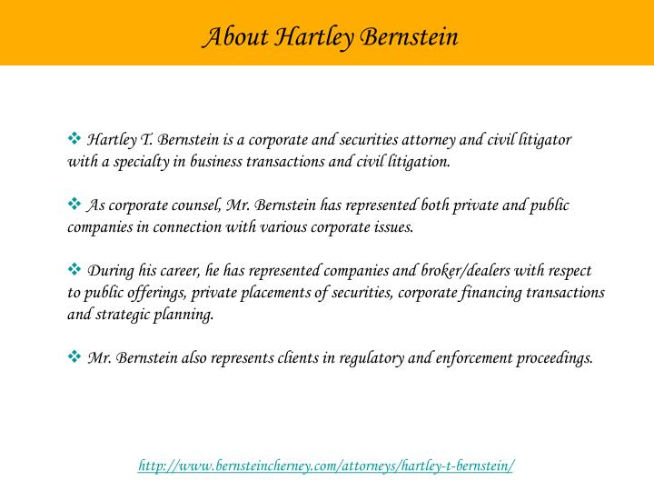 About Hartley Bernstein