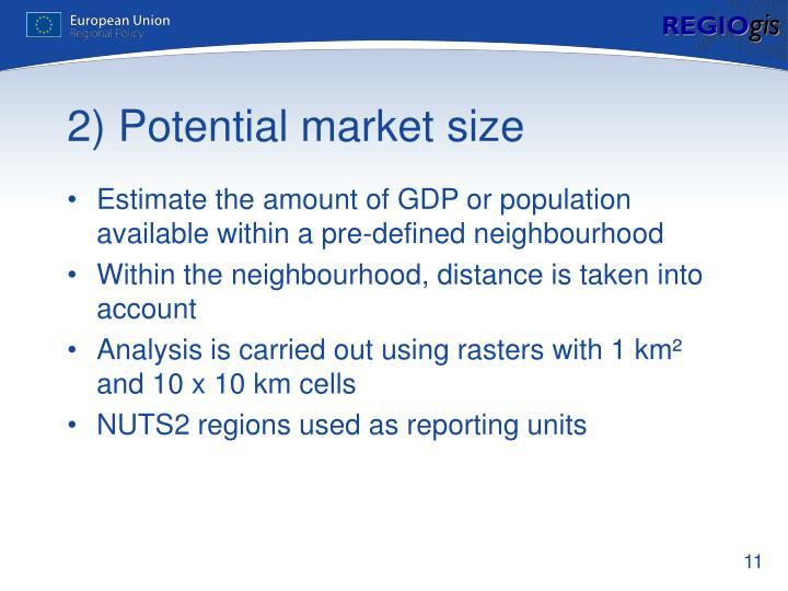 2) Potential market size