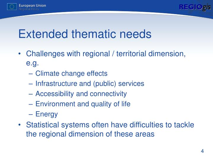 Extended thematic needs