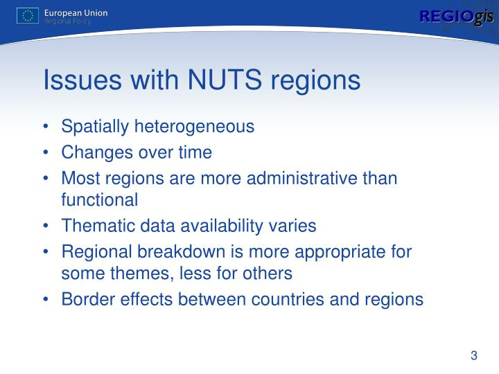 Issues with nuts regions