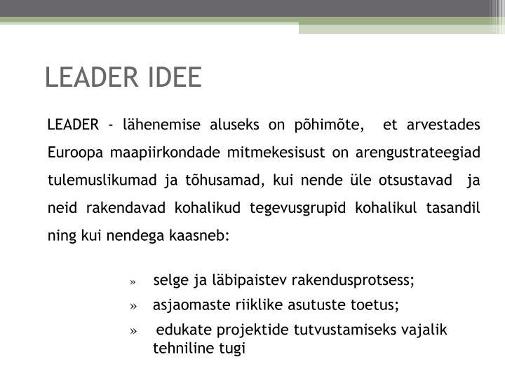 Leader idee