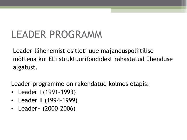 Leader programm