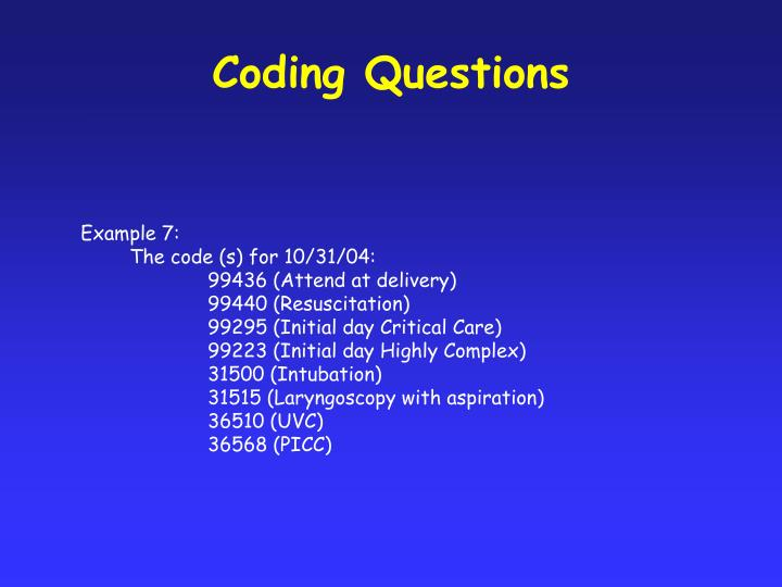Coding Questions